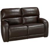 Leather Power Loveseat Recliner