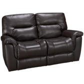 Bonded Leather Power Loveseat Recliner