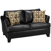 Bonded Leather Twin Sleeper Loveseat