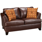 Bonded Leather Twin Sleeper Loveseat with Memory Foam Mattress