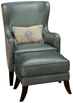 simon li camden leather accent chair u0026 ottoman furniture - Simon Li Furniture