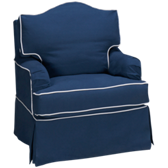 Ella Swivel Glider with Slipcover (also available in Sunbrella)