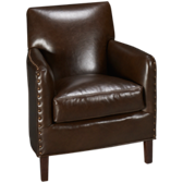 Calvin Leather Accent Chair