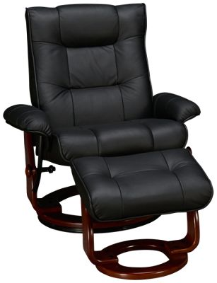 Benchmaster  Benchmaster Leather Chair And Ottoman   Jordanu0027s Furniture