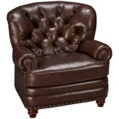 Nailhead Leather Club Chair