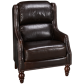 Cordovan Leather Accent Chair