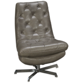Manhattan Leather Swivel Chair