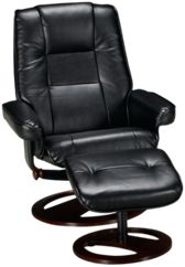 Bonded Leather Chair and Ottoman
