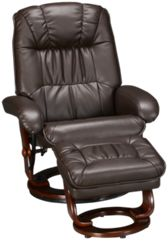 Bonded Leather Chair and Storage Ottoman