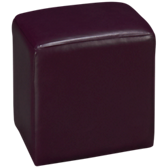 Colorful Accents Leather Accent Cube Ottoman