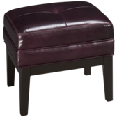 Choices Leather Accent Cube Ottoman