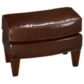 Aunt Jane Leather Accent Ottoman