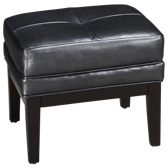 Crosby Leather Accent Cube Ottoman