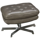 Manhattan Leather Accent Ottoman