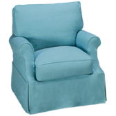 Nantucket Accent Swivel Chair with Slipcover