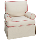 Hermitage Accent Swivel Chair with Slipcover