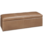 Haven Leather Accent Storage Bench