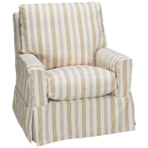 Devin Swivel Glider with Slipcover (also available in Sunbrella)
