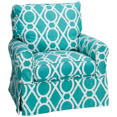Alexandria Swivel Glider with Slipcover (also available in Sunbrella)