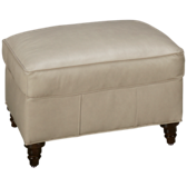 Hayes Leather Accent Ottoman