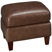 Weston Leather Accent Ottoman