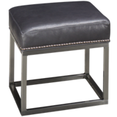 Leather Accent Ottoman