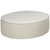 Delaney Leather Accent Ottoman