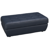 Ashbury Leather Accent Cocktail Ottoman