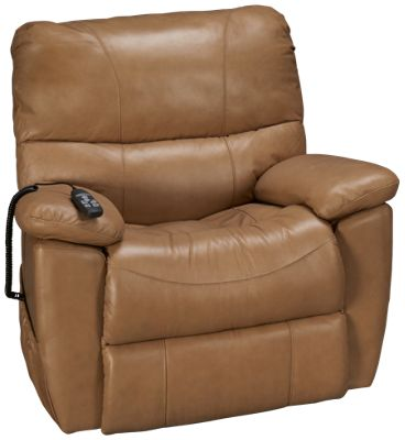 Synergy Crawford Synergy Crawford Leather Power Lift Recliner   Jordanu0027s  Furniture