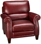 Leather Pushback Recliner