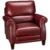 Burgundy Leather Pushback Recliner