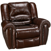 Crosstown Leather Glider Recliner (also available in Sunbrella)