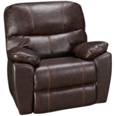 Bonded Leather Swivel Recliner