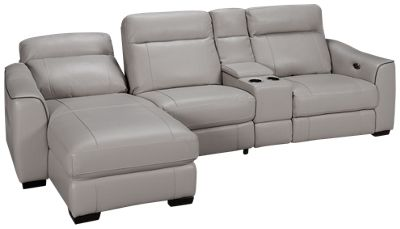 HTL Furniture-Dustin -HTL Furniture Dustin 4 Piece Leather Power Reclining Sectional - Jordanu0027s Furniture  sc 1 st  Jordanu0027s Furniture : htl sectional - Sectionals, Sofas & Couches