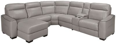 HTL Furniture-Dustin-HTL Furniture Dustin 6 Piece Power Leather Sectional - Jordanu0027s Furniture  sc 1 st  Jordanu0027s Furniture : htl leather sectional - Sectionals, Sofas & Couches