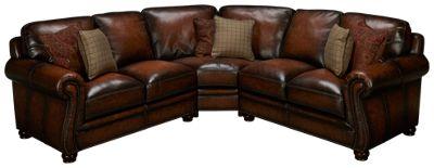 simon li bomber 3 piece leather sectional - Simon Li Furniture