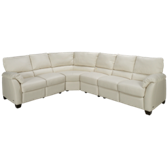 Stuart 4 Piece Leather Power Sectional