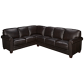Nailhead 2 Piece Leather Sectional