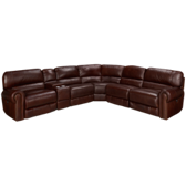 6 Piece Power Reclining Leather Sectional