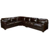 4 Piece Leather Sectional