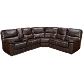 3 Piece Bonded Leather Reclining Sectional