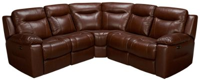 HTL Furniture-Hazelnut-HTL Furniture Hazelnut 5 Piece Leather Reclining Sectional - Jordanu0027s Furniture  sc 1 st  Jordanu0027s Furniture : htl furniture sectional - Sectionals, Sofas & Couches