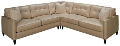 Nice Link-Pebble Beach-Nice Link Pebble Beach 3 Piece Leather Sectional - Jordanu0027s Furniture  sc 1 st  Jordanu0027s Furniture : 3 piece leather sectional - Sectionals, Sofas & Couches