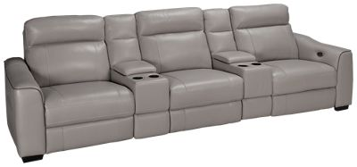 HTL Furniture-Dustin-HTL Furniture Dustin 5 Piece Reclining Leather Sectional - Jordanu0027s Furniture  sc 1 st  Jordanu0027s Furniture : htl furniture sectional - Sectionals, Sofas & Couches