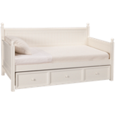Casey Daybed with Trundle - White