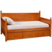 Casey Daybed with Trundle - Honey Maple