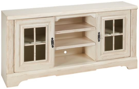 Oak Furniture West-Antique White-Oak Furniture West Antique White Console -  Jordan's Furniture - Oak Furniture West-Antique White-Oak Furniture West Antique White