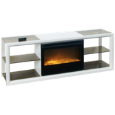 Novara Fireplace Media Console with Remote