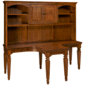 Harvest Dual T Desk with Hutch