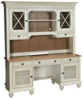 2 Door 3 Drawer Credenza with Hutch